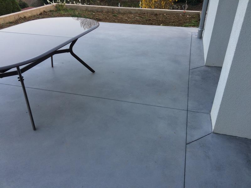 Terrasse En Beton Cir Extrieur Excellent Bton Dcoratif Extrieur